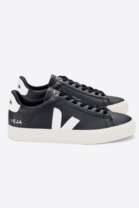 Campo Chromefree Leather Black White - Veja