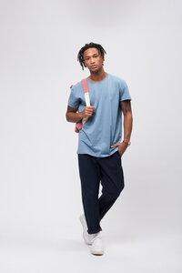 Basic T-Shirt blau - recolution