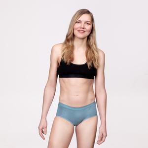 3er Sparpack Menstruations-Panty Hipster Powder Blue - KORA MIKINO SUSTAINABLE FEMCARE
