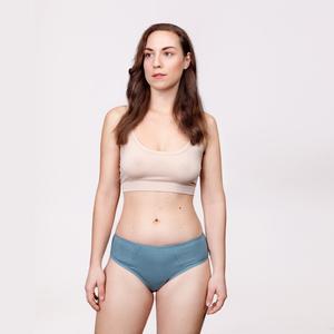 3er Sparpack Menstruations-Panty Slip Powder Blue - KORA MIKINO SUSTAINABLE FEMCARE