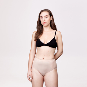 Menstruations-Panty High Waist Hilde Beige - KORA MIKINO SUSTAINABLE FEMCARE