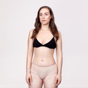 Menstruations-Panty Hipster Beige - KORA MIKINO SUSTAINABLE FEMCARE