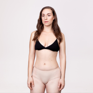 Menstruations-Panty Hipster Beige - KORA MIKINO SUSTAINABLE FEMCARE