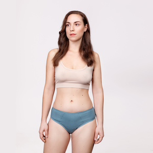 Menstruations-Panty Slip Powder Blue - KORA MIKINO SUSTAINABLE FEMCARE