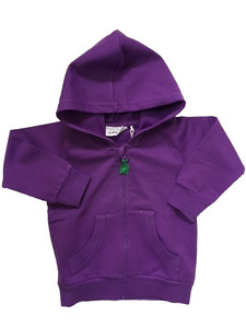 Sweat jacket purple - Green Cotton