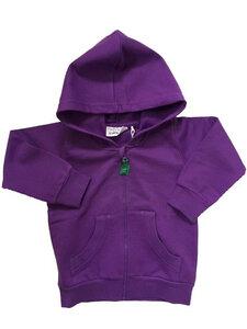 Sweat jacket purple - Green Cotton