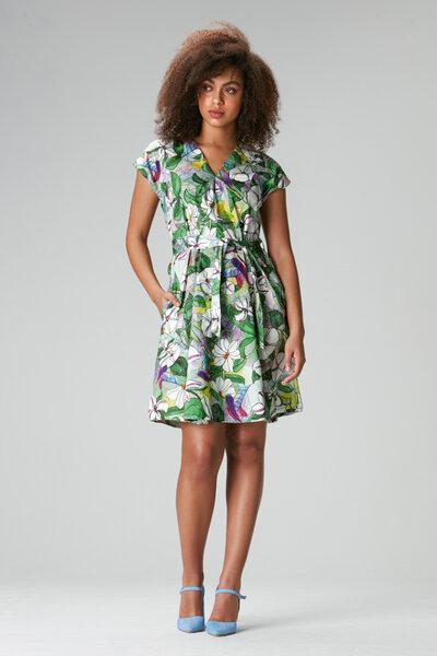 Flowmance - Sommerkleid Viola bird Kleid mit Blumenmuster ...