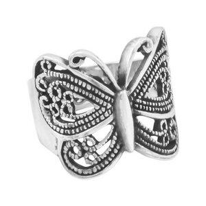 Ring Silber Schmetterling handmade elegant Damen-Ring fein Fair-Trade - pakilia