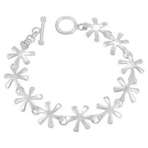 Armband Silber schlichte Blume minimalistisch handmade Fair-Trade - pakilia
