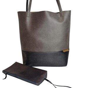 Shopper aus Lederfaserstoff  - BOWLEANIES TASCHEN