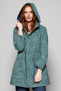 Organic Cotton Raincoat - Cobble Print - Nomads Fair Trade Fashion