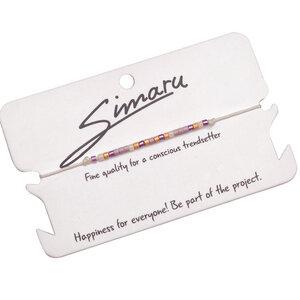 "Simaru® Perlenarmband / Freundschaftsarmband ""FRAMBUESA"" - Simaru"