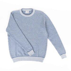Upgecycelter Pullover aus Denim-Baumwolle Renzo - Rifò - Circular Fashion