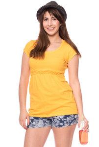 ALMA Basic Umstands- & Stillshirt kurzarm aus Bio Baumwolle - Milchshake