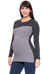 BRUNO Shirt Langarm (Streifen) aus Bio Baumwolle - Milchshake
