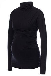 Carmen doppellagiges Rollkragen Umstands-& Stillshirt aus Tencel Modal Jersey - Milchshake