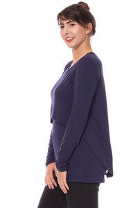 ALYSSIA leichter Pullover aus Bambusfasern marineblau - Milchshake