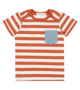Baby T-Shirt orange geringelt - Sense Organics & friends in cooperation with GARY MASH