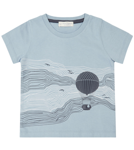 Hellblaues Shirt mit Ballon - Sense Organics & friends in cooperation with GARY MASH