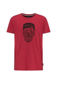 Basic T-Shirt #BIKESKULL rot - recolution