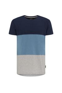 Basic T-Shirt #BLOCK blau-grau - recolution