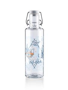 """soulbottle 0,6l • Trinkflasche aus Glas • """"Rips auf Reisen"""" - soulbottles"""