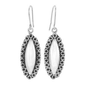 Silber Ohrringe Katzenauge Fair-Trade und handmade - pakilia