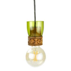Upcycling Deckenlampe - Weinflasche - Pure - Grün - Chako Zanzibar