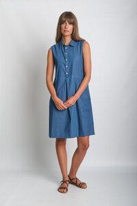 Alina Sleeveless Shirt Dress - bibico