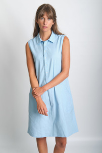 Alina Sleeveless Shirt Dress - bibico