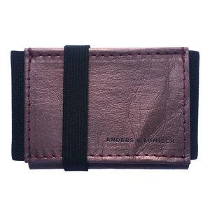 Kleines Portemonnaie Mini Geldbeutel Geldbörse A&K MINI lila-schwarz - ANDERS & KOMISCH