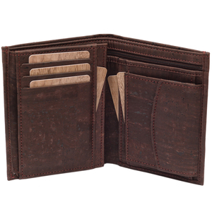 Kork Geldbörse Herren Premium: MAEL - braun - Simaru