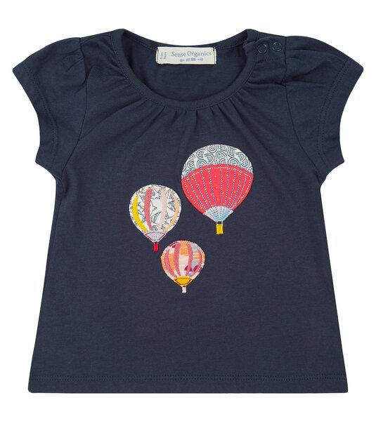 Dunkelblaues Shirt Mit Ballon Applikation