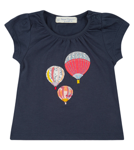 Dunkelblaues Shirt mit Ballon Applikation - Sense Organics & friends in cooperation with GARY MASH