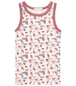 Mädchen Unterhemd mit Vögeln oder Ringel - Sense Organics & friends in cooperation with GARY MASH
