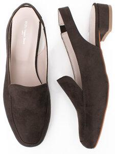 Sling Loafers Dark Brown Vegan Suede Womens - Will's Vegan Shop