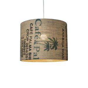 Deckenleuchte Perlbohne N°75 aus Kaffeesack - lumbono