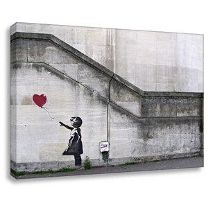 Banksy Leinwandbild kunstdruck always hope  - Kunstbruder