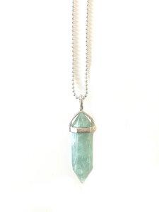 Fluorit Pendel Edelsteinkette - Crystal and Sage