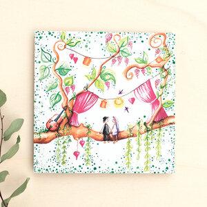 Grußkarte // Zur Hochzeit - anabellstellmacher