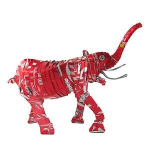 Elefant Blechtiere - M/L - Upcycling Township Art Africa - Little Zim