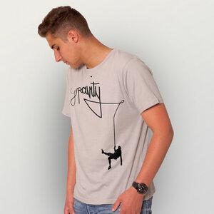 """""""Gravity"""" Männer T-Shirt  - HANDGEDRUCKT"""