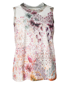 Art-Flower Top - Sommer Baumwoll Shirt - Alma & Lovis