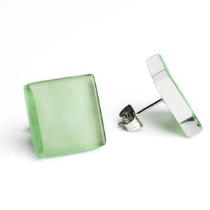 Minimalistische Ohrstecker, groß, aus Glas | PUREFORM - ALEXASCHA