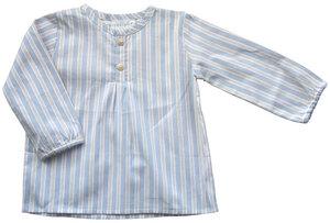 Baby Gestreiftes Bauernhemd mit Rundkragen und Knopfleiste. - Serendipity