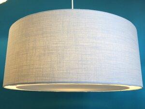 Hängeleuchte flat Leinen hellbeige - my lamp