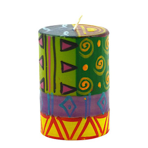 Kapula Stumpenkerze - Multicoloured Ethnic - M/L/XL - Kapula Candles