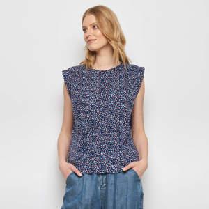 Bluse LAMIN aus Cambric, GOTS-zertifiziert - TRANQUILLO
