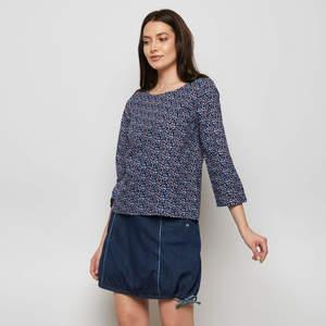 Bluse NIAM aus Cambric, GOTS-zertifiziert - TRANQUILLO