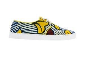 Bunte Sneaker - Ouagadougou - Weiß - Unisex - PANAFRICA